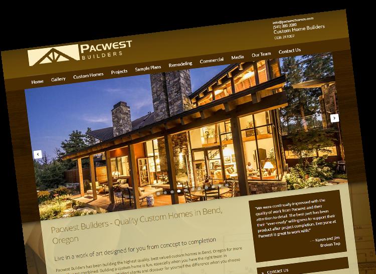Bend oregon web design website designer serving for Custom home design bend oregon